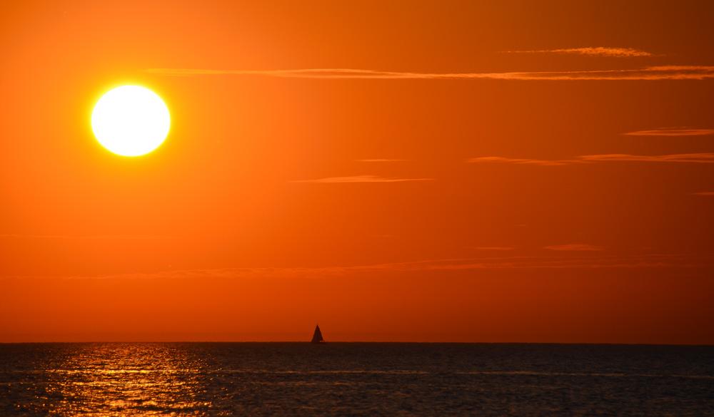 Sonnenuntergangsstimmung am Meer