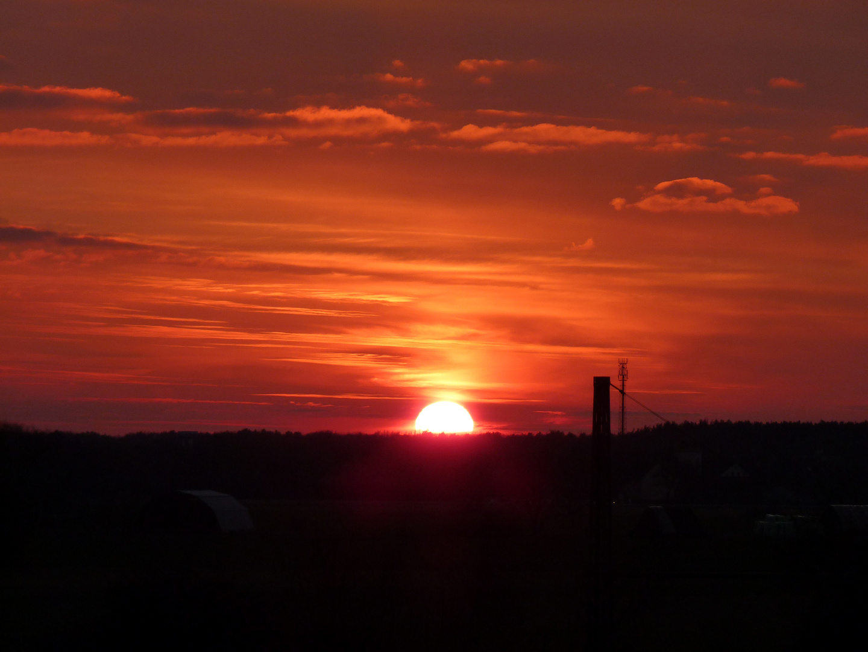 Sonnenuntergangsstimmung in Falkensee