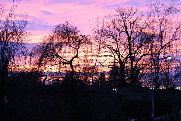 Sonnenuntergangsstimmung über Eibach