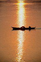 Sonnenutergang am Mekong