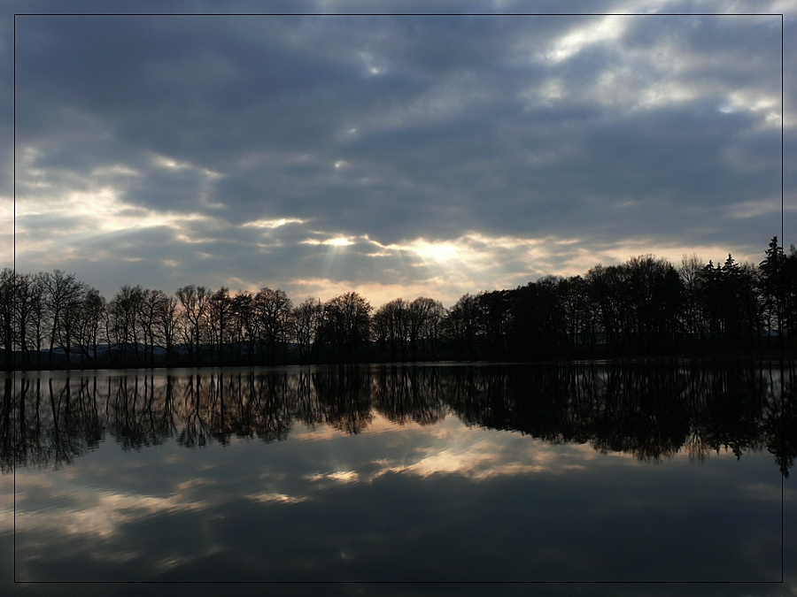 Sonnenwolken-Spiegel