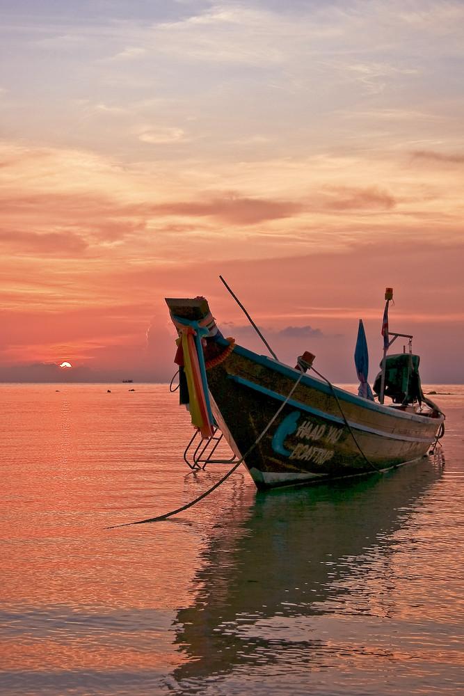 Sonneruntergang auf Koh Phangan in Tailand