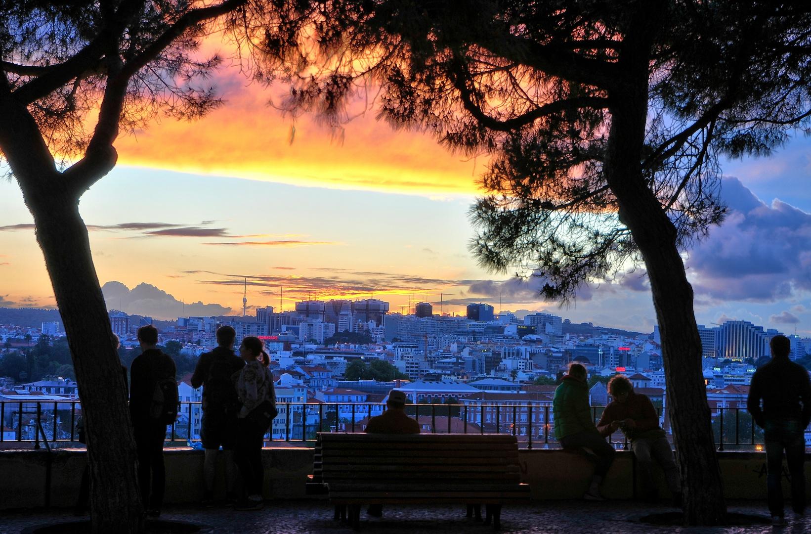 Sonneruntergang über Lissabon
