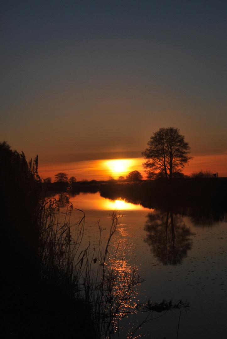 Sonneuntergang an der Hamme