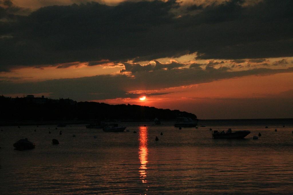 Sonneuntergang Im Urlaub Croatien