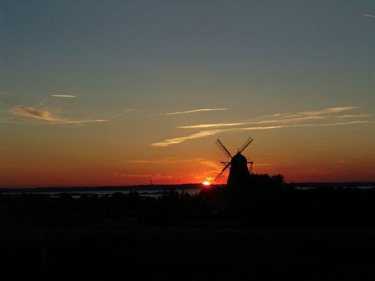 Sonneuntergang in Mols (DK)