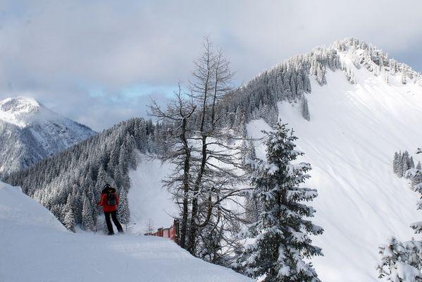 Sonnige Skitag