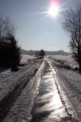 Sonnige Straße