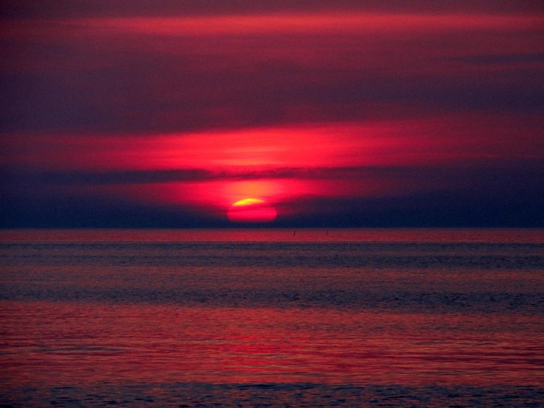 sonniger Morgen am Meer
