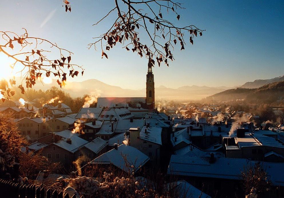 Sonniger Wintermorgen in Tölz
