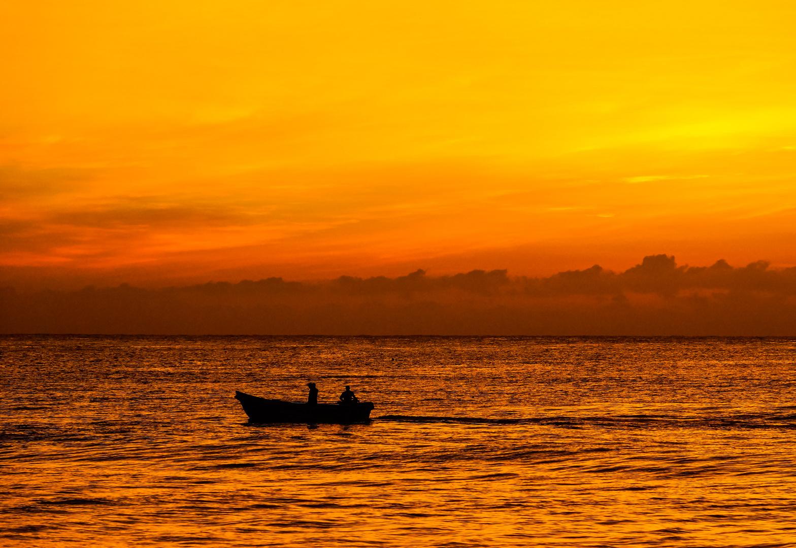 Sonnnenaufgang Passekudah Bay Sri Lanka