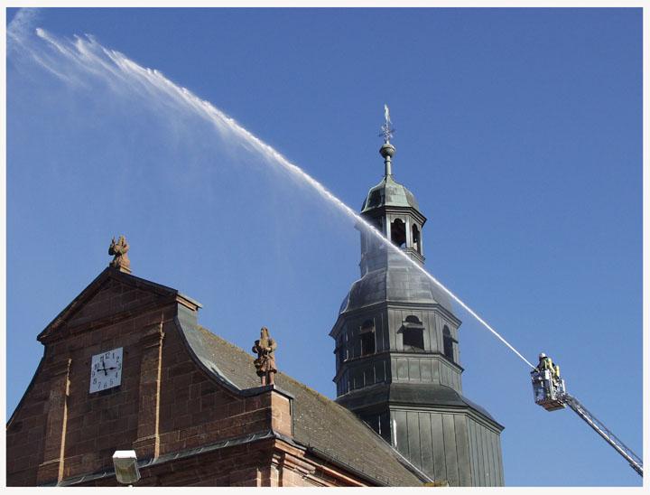 Sonntägliche Feuerwehrübung