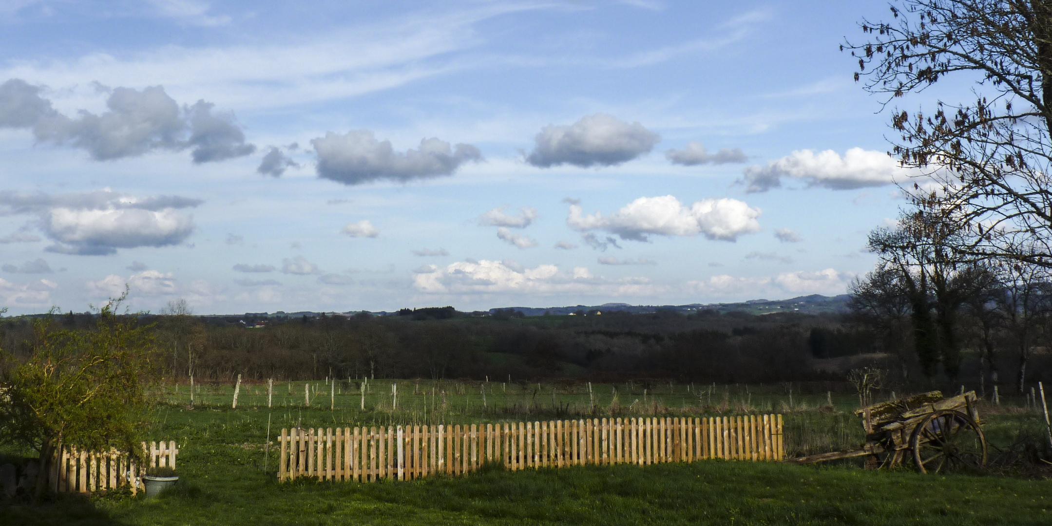 Sonntag-Nachmittags-Wolken