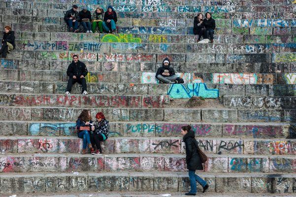 Sonntagsnachmittagschillen im Berliner Mauerpark