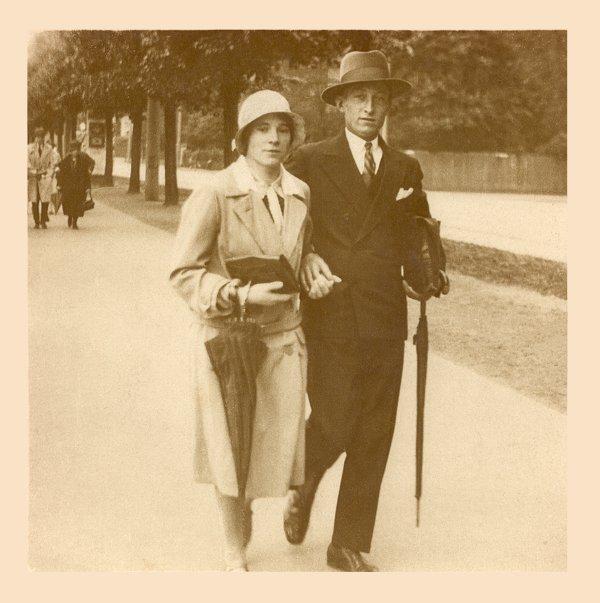 Sonntagsspaziergang im Dortmunder Westfalenpark um 1930