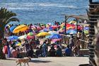 Sonntagsvergnügen am Strand