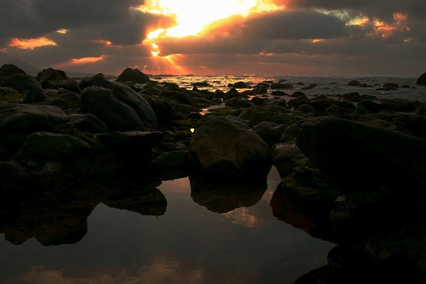 Sonnuntergang an die Küste