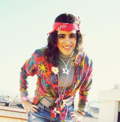 Sonrisa hippie.