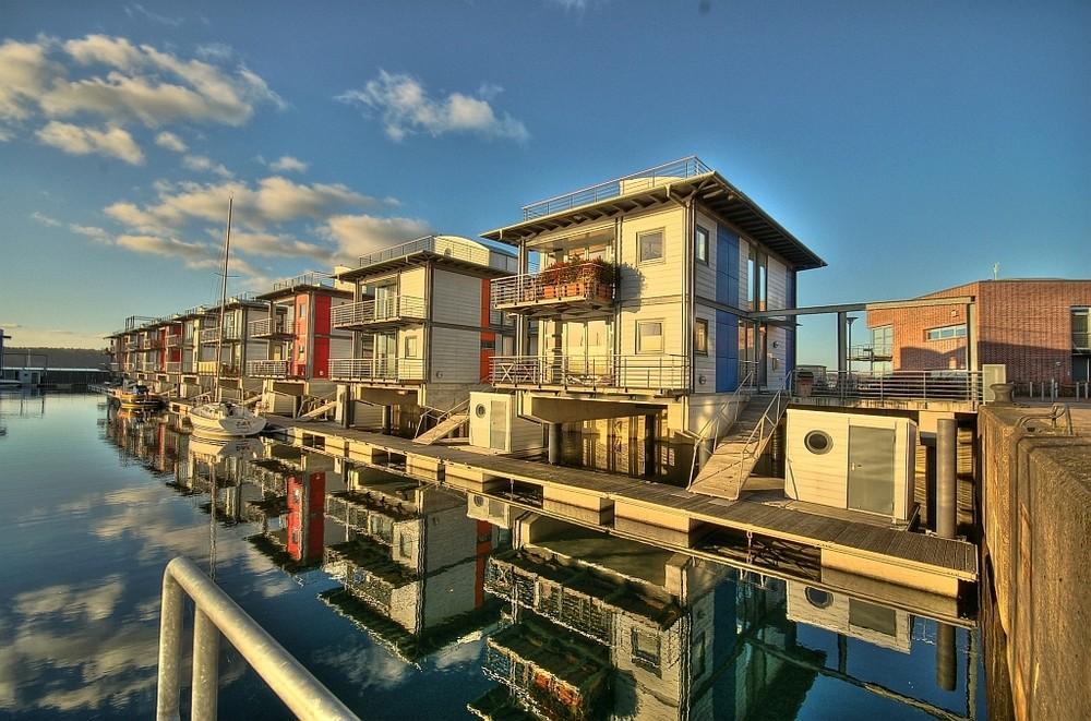 Sonwiks Wasserhäuser in Flensburg