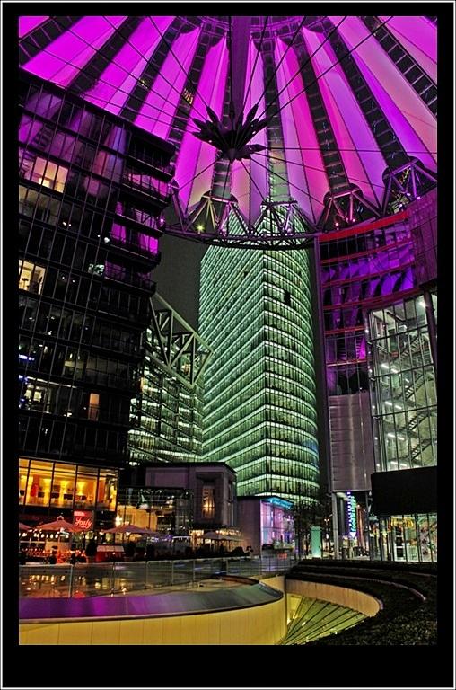 Sony Center by night
