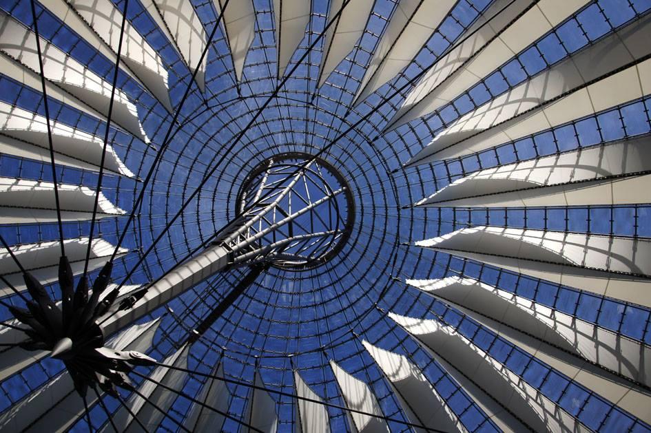 Sony Center Dachkonstruktion