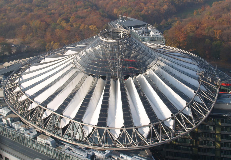 Sony-Center von oben