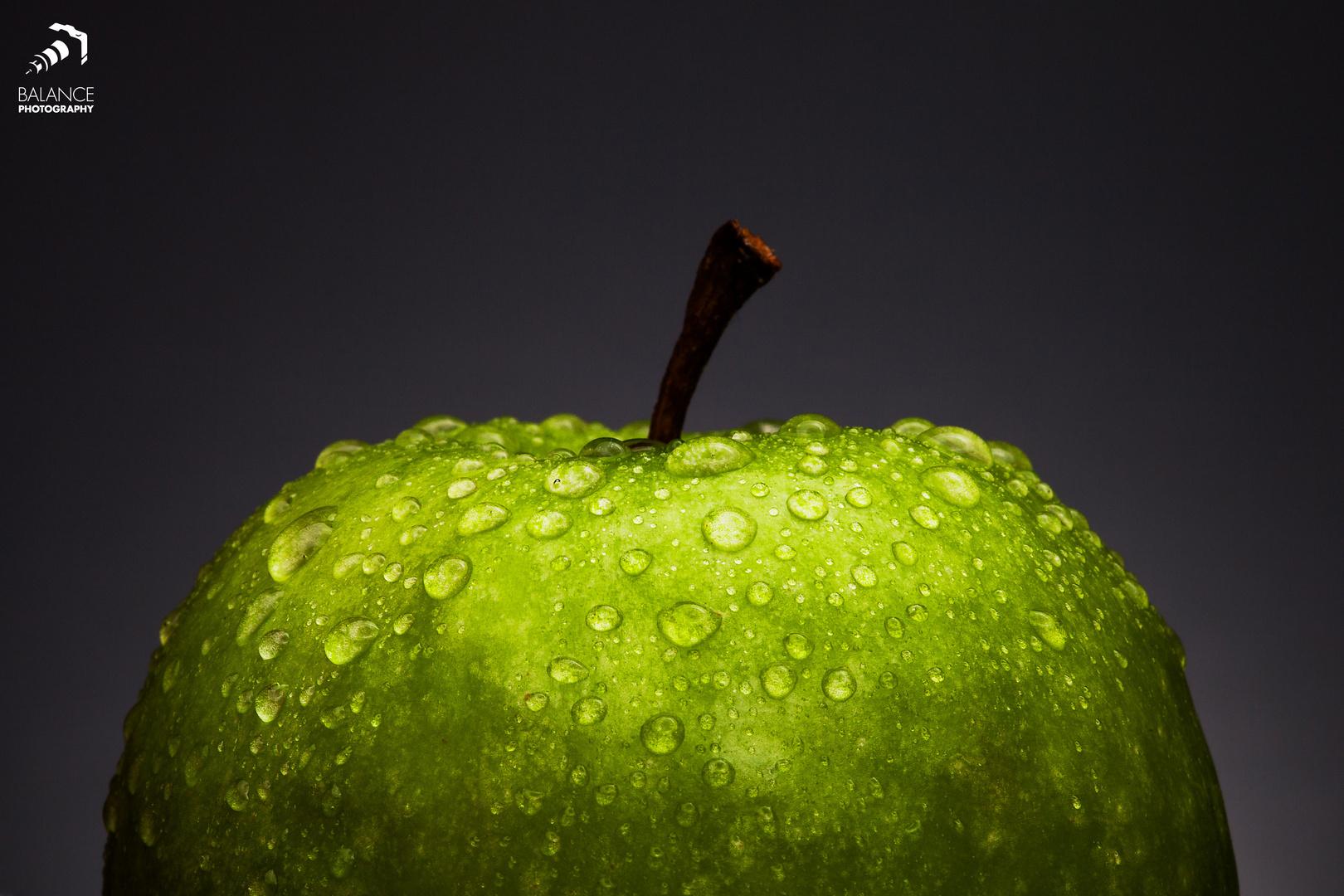 Soo schön frisch der Apfel