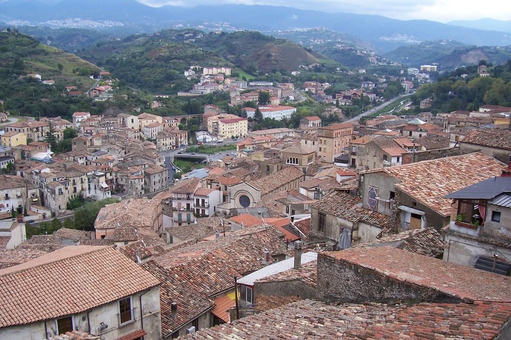 Sopra i tetti di Cosenza