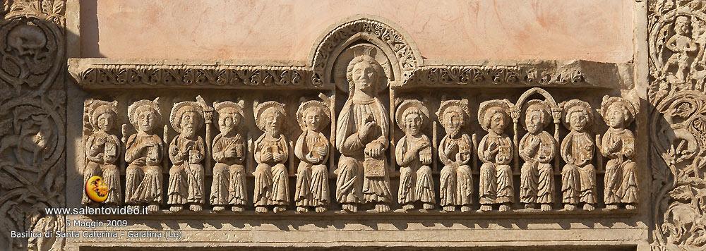 Sopra il portone Basilica di Santa Caterina a Galatina (Le)