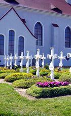 Sorbischer Friedhof in der Lausitz