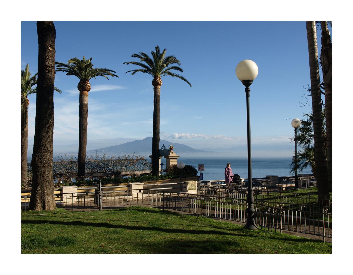 Sorrent mit Blick auf den Vesuv
