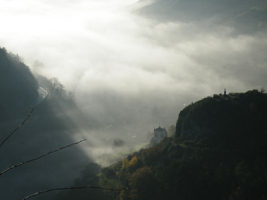 sortie de la brume