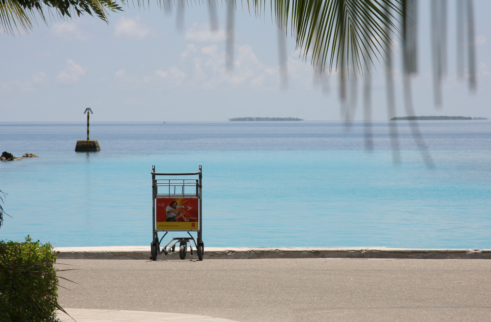 sortie de l'aeroport, Maldives sud