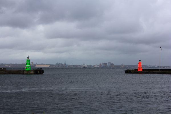 Sortie fluo du Port d'Helsingor - Danemark