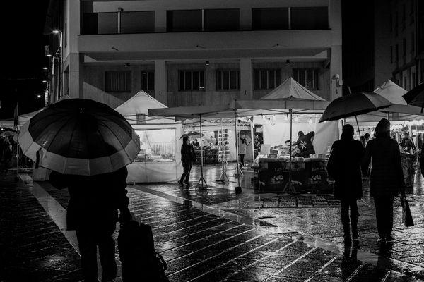 Sotto la pioggia........