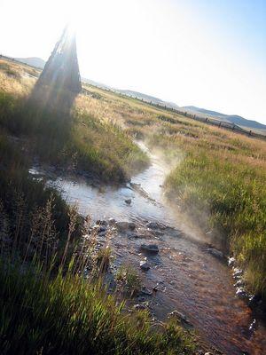 Sources chaudes en Mongolie . . .