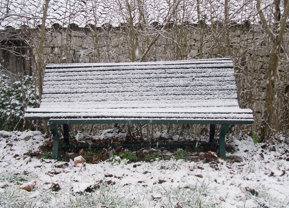 sous la neige.