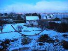 Sous la neige à l'heure bleue