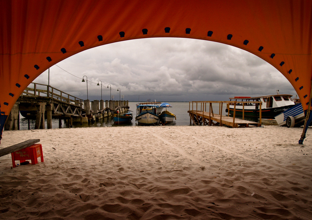 Sous la tente, Ilha do Mehl, Brésil