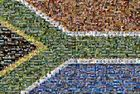 South African Flag made of 1200 photos