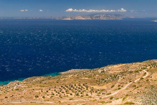 South coast of Samos - view to Fourni