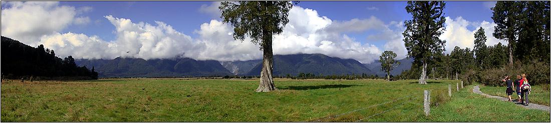 Southern Alps near Lake Matheson