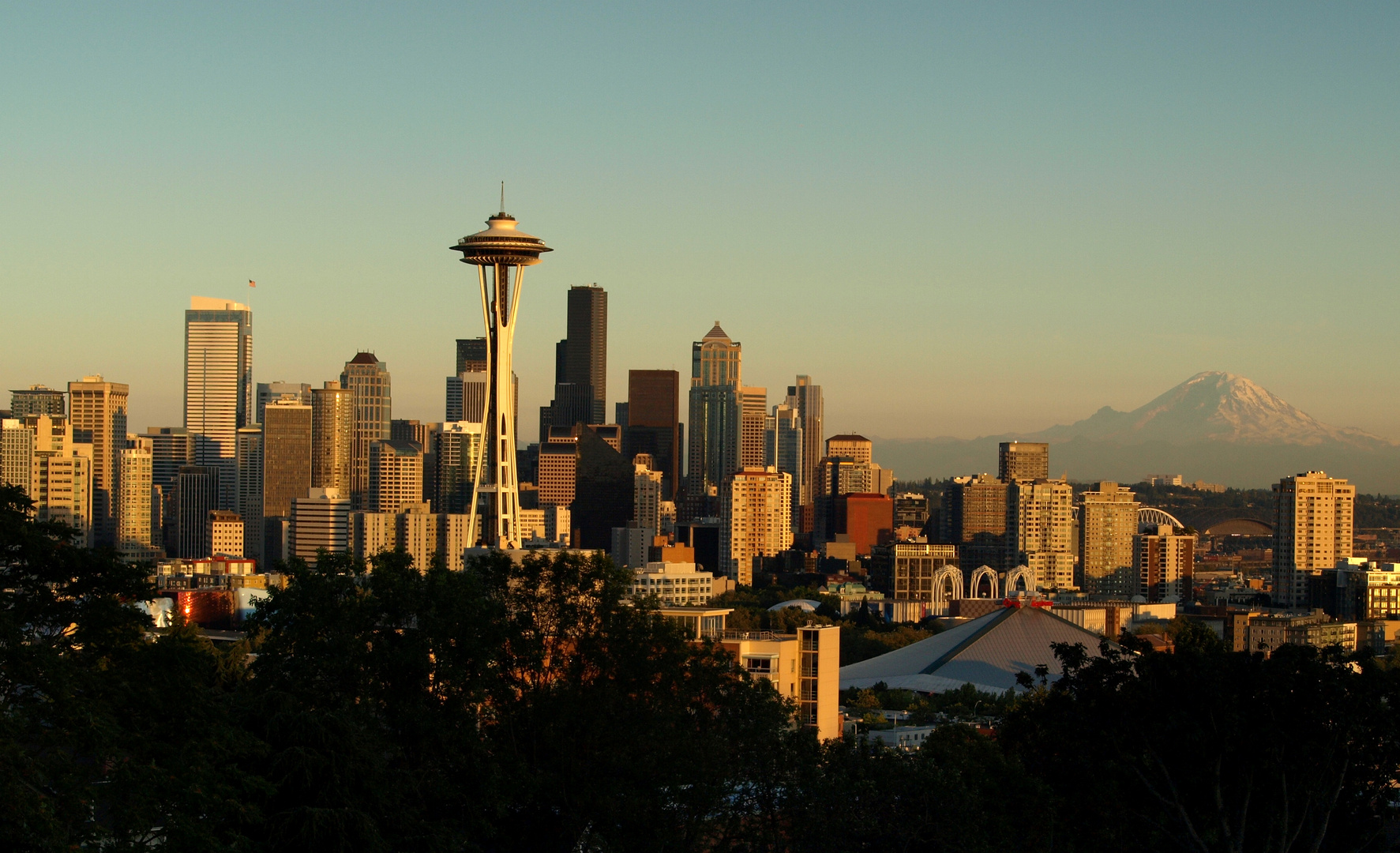 Space Needle und Downtown Seattle