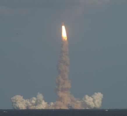 Space Shuttle Atlantis 3 seconds Later