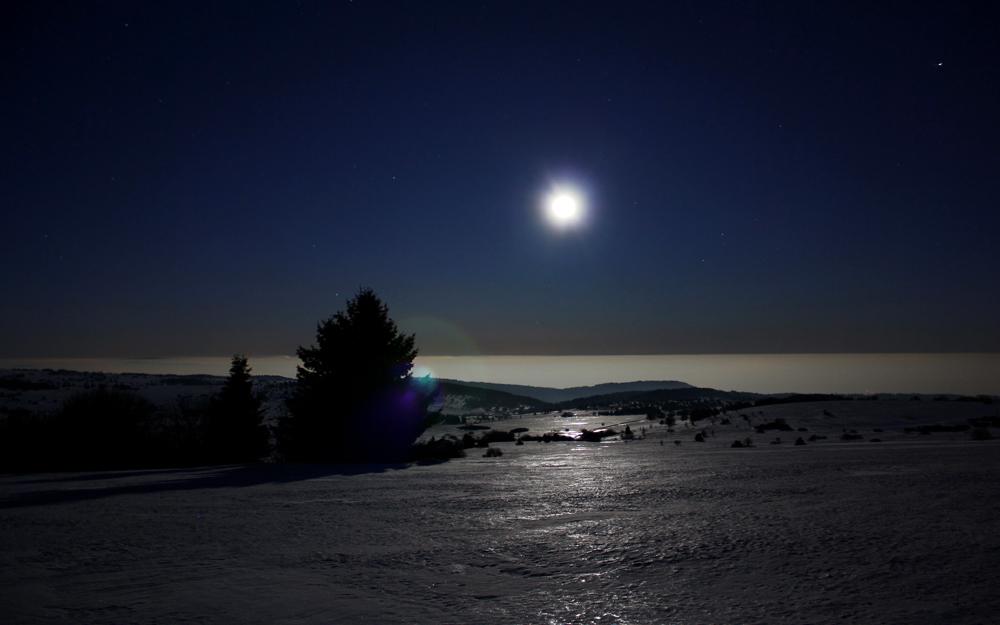 Spacenight über den Wolken