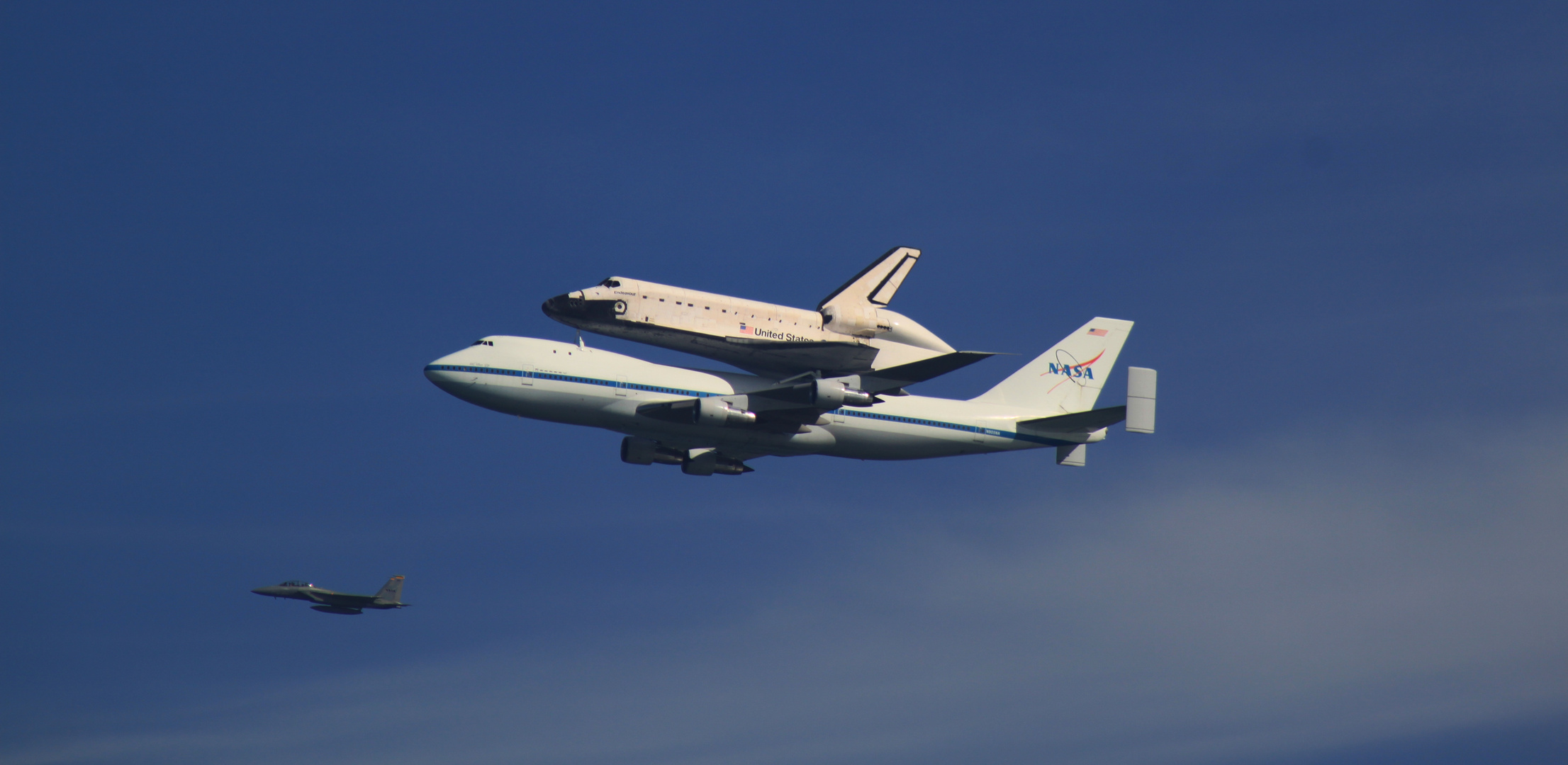 Spaceshuttle over San Francisco