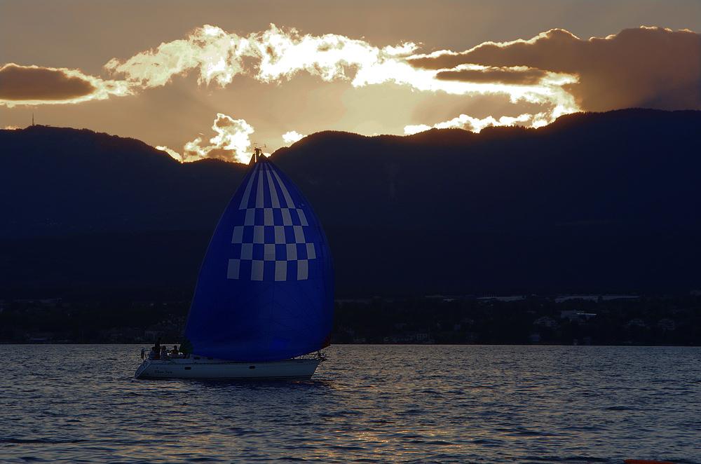 Späte Ankunft am Genfer See