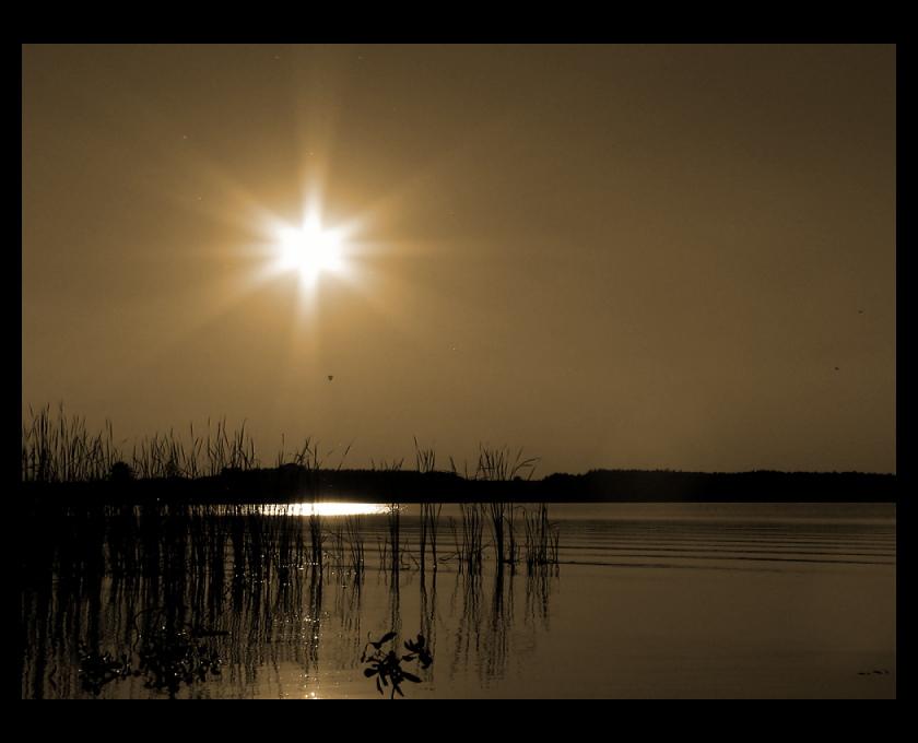späte Sonne