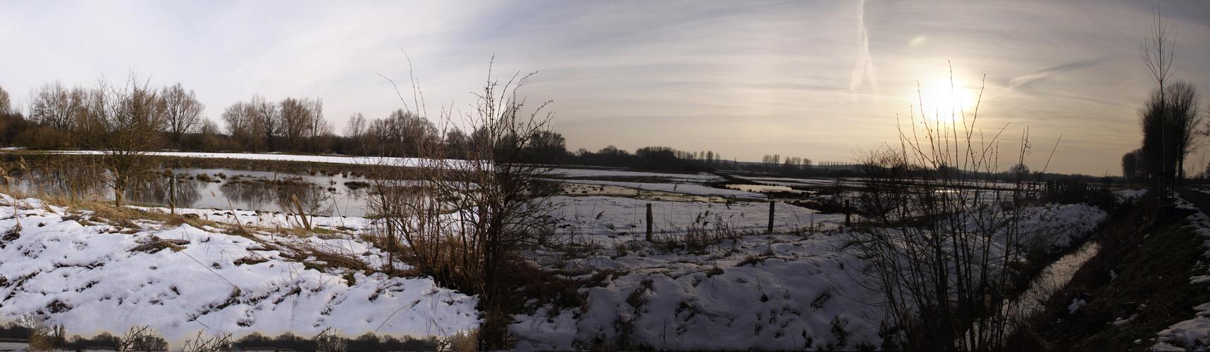 Späten Nachmittag am Niederrhein