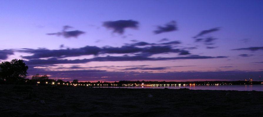 Später Abend an der Ostsee